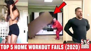 Top 5 Funniest Home Workout Fails - With Reaction (2020)