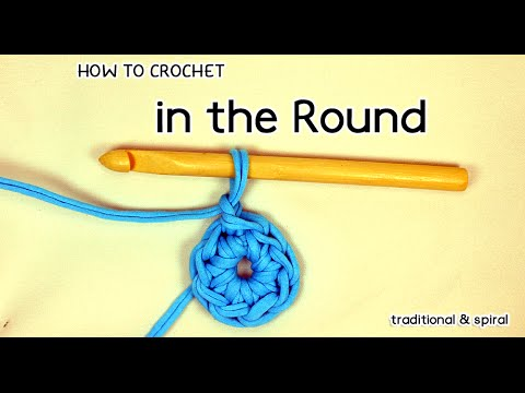HOW TO CROCHET IN THE ROUND (traditional & spiral) | Patrones Valhalla ENG