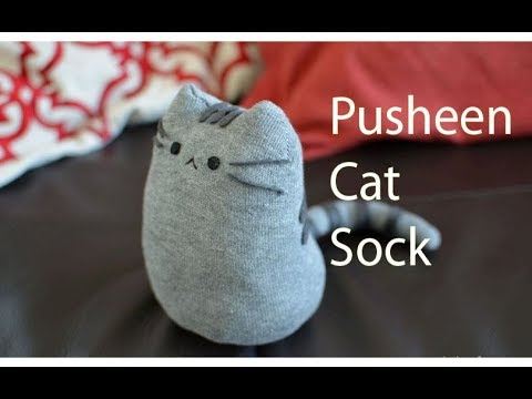 How To Make Pusheen Cat From SOCKS!! DIY Pusheen Cat Cute