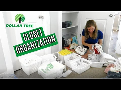DOLLAR TREE CLOSET ORGANIZATION 2019 // CLEAN AND ORGANIZE WITH ME