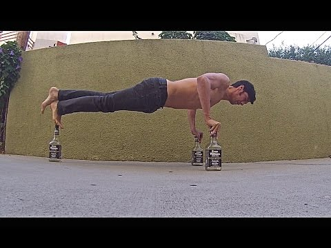 Whiskey Bottle Push Ups