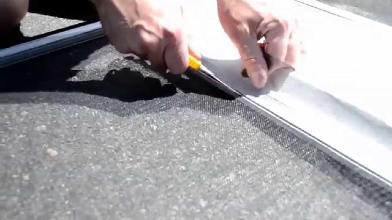 Decorating fixing screen door images : RV screen door repair - YouTube
