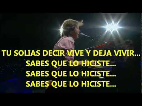 Paul McCartney- Live And Let Die (Zocalo,Mex) Subtitulada Español