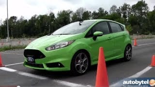 2014 Ford Fiesta ST Autocross Track Test Video(The 2014 Ford Fiesta ST has been eagerly awaited for by subcompact car fans in the U.S. for several years. In that time we have seen our European friends ..., 2013-09-23T20:26:46.000Z)