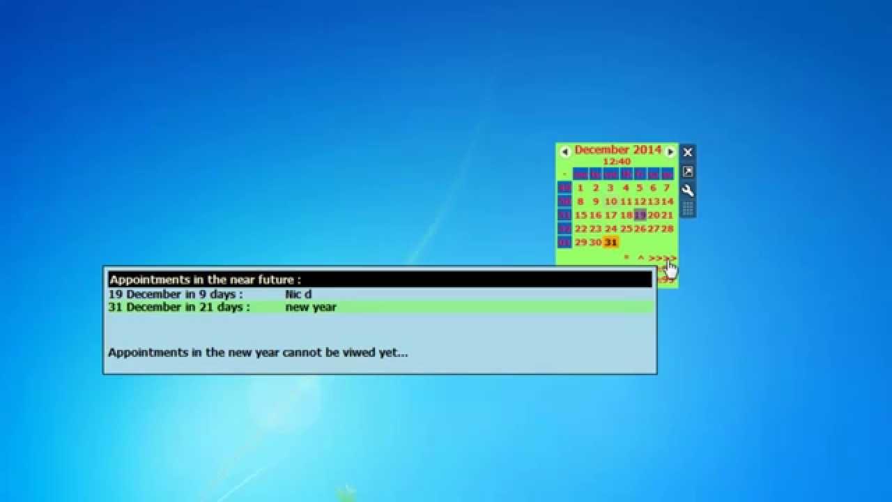 Calendar Planner Windows Gadget : Calendar agenda windows gadget youtube