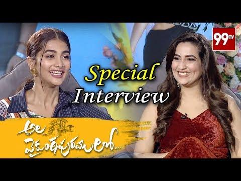 pooja-hegde-interview-about-ala-vaikunta-puramu-lo-movie-|-#alluarjun-|-#trivikram-|-99-tv-telugu
