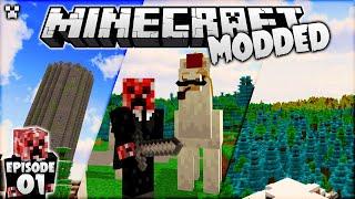 LET'S BEGIN! | Minecraft Modded Survival Episode 1