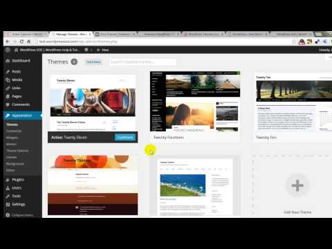Changing & Uploading WordPress Theme