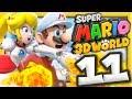 Mario Et Peach De Feu  | Super Mario 3d World Episode 11 Co-op Nintendo