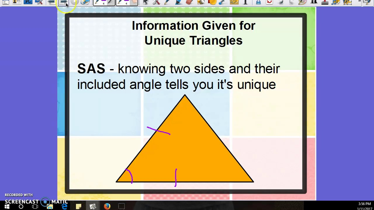 hight resolution of Conditions for a Unique Triangle (examples