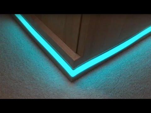 Light Tape Plinth Corner Installation