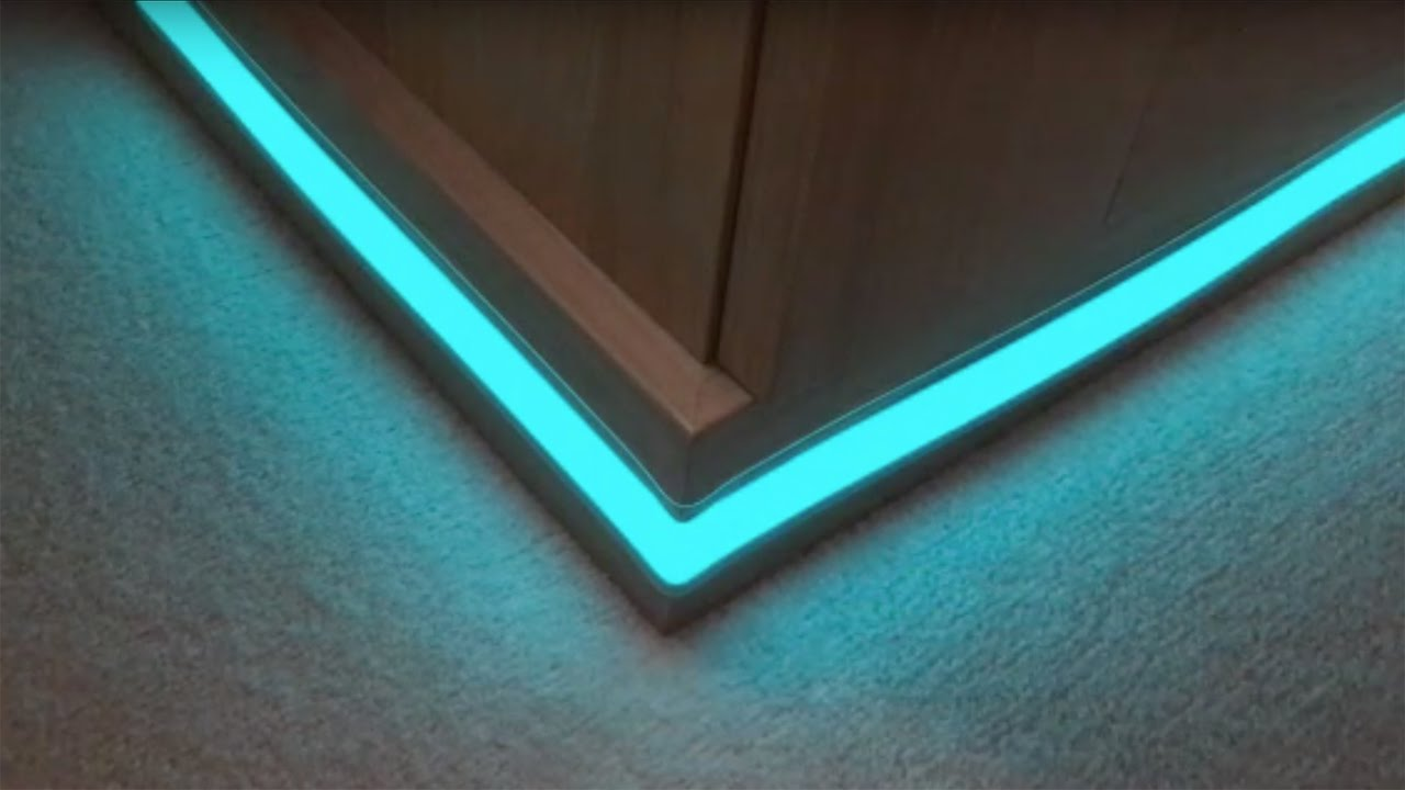 Light tape plinth corner installation youtube aloadofball Image collections