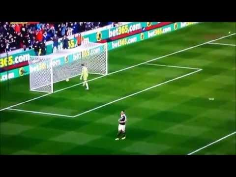 Gol de Begovic desde su propia portería. Stoke City vs Southampton 13/14