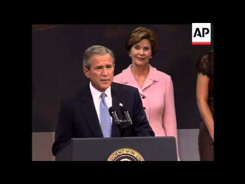 Bush speech to supporters following election victory