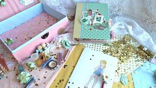 Tutorial МК- личный дневник для девочки+шкатулка Photo play paper/ Paper dolls