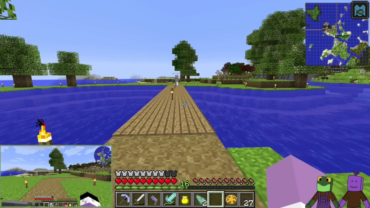 Minecraft Direwolf20 1.10 E11 Moving to the Village and ...