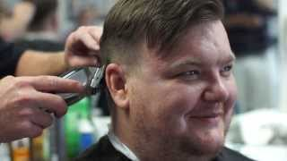 men s haircut at courtney brothers barber shop and shave parlor