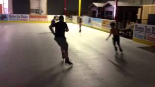 Zipping along on D1 Ice