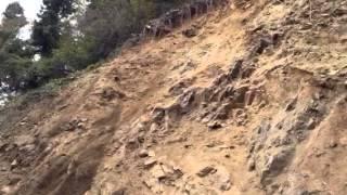 土砂崩壊の瞬間