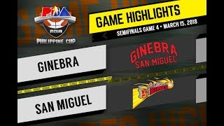 PBA Philippine Cup 2018 Highlights: San Miguel vs Ginebra Mar. 15, 2018