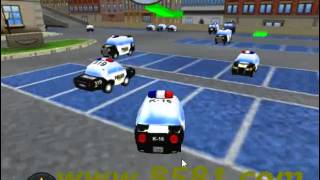 Police Cars Parking games online for pc to  play free online games 3d on 8581.com