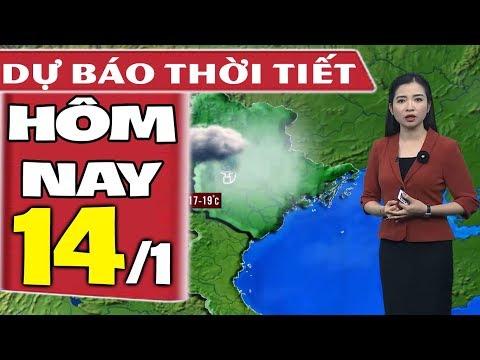 Dự báo thời tiết hôm nay mới nhất ngày 14/1 | KKL tăng cường | Dự báo thời tiết 3 ngày tới