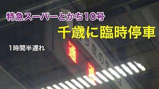 千歳に臨時停車 特急スーパーとかち10号に乗車 追分→札幌 2019.2.4