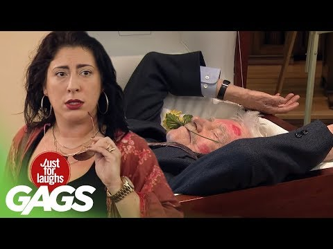 Wife Kisses DEAD Husband - Just For Laughs Gags