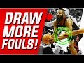 3 Sneaky Ways that James Harden Draws Fouls EASY WAY TO SCORE MORE POINTS