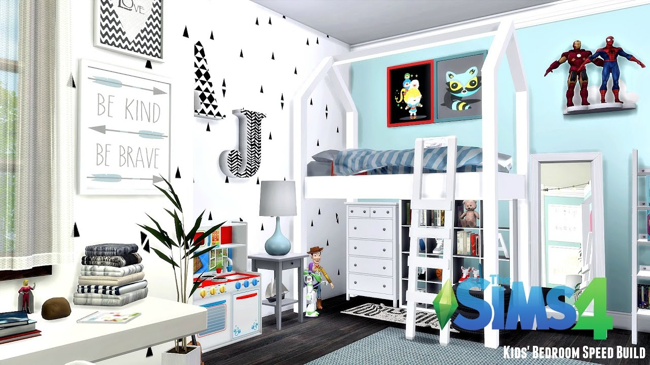 Charming The Sims 4: Kidsu0027 Room Speed Build