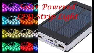 Download Solar Battery Powered 5050 RGB LED Strip Light Kit - WaterProof - USB Power Bank MP3 song and Music Video