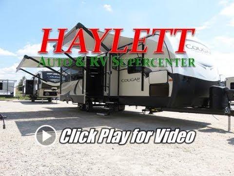 HaylettRV - 2018 Cougar 34TSB Half Ton Bunkhouse Outside Kitchen Travel Trailer by Keystone RV