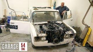 7-liter truck engine swap – pedal box, steering rack, propshaft