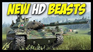 ► New Beast HD Models! - World of Tanks STB-1 & FV215b Gameplay