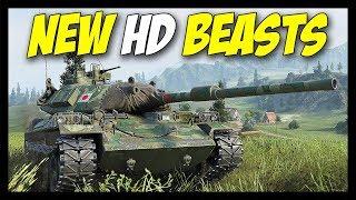 ► New Beast HD Models! - World of Tanks STB-1 & FV215b Gameplay