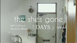 the shes gone 1st mini album 「DAYS」ティーザー