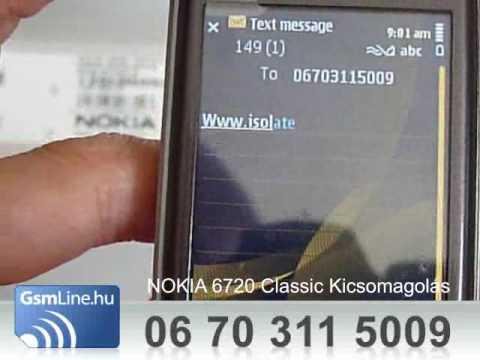 NOKIA 6720 Classic teszt | www.GsmLine.hu