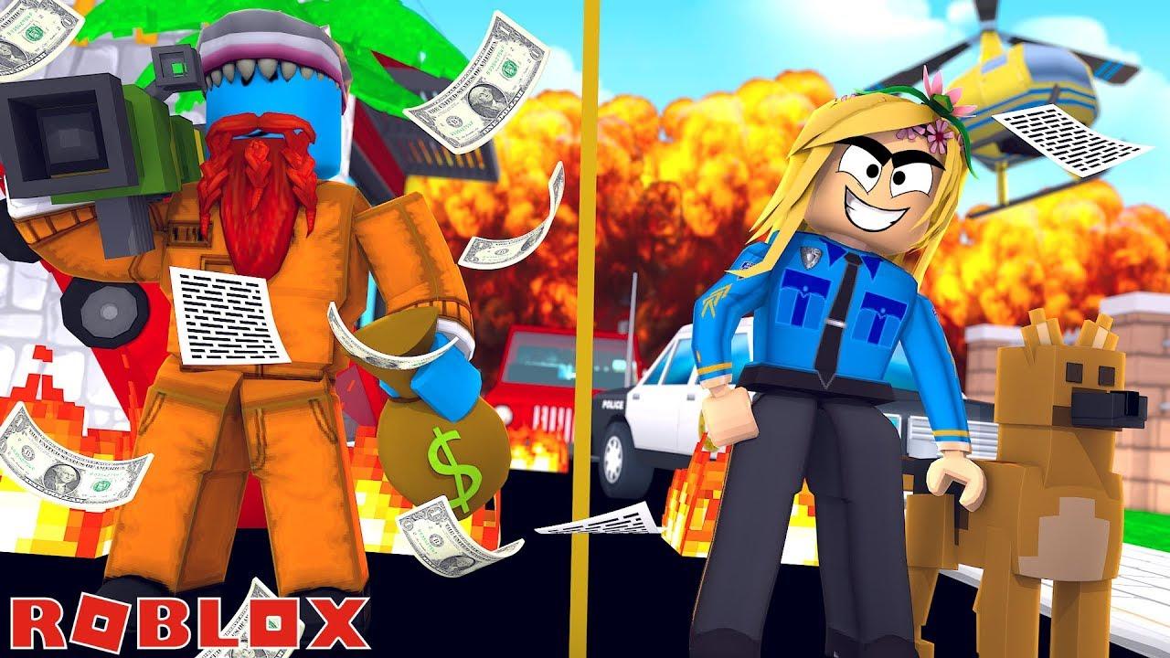 LITTLE KELLY VS SHARKY, COPS VS CRIMINALS !!! Sharky Roblox