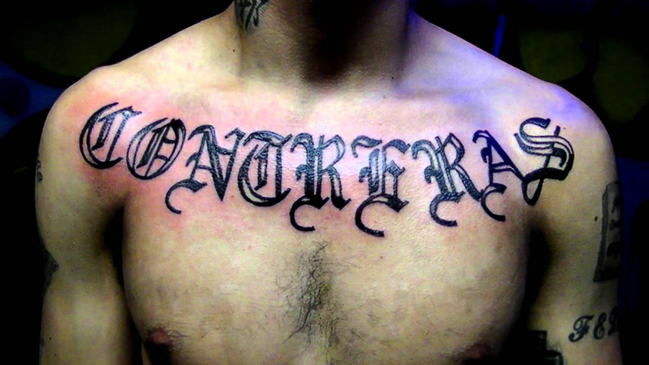 Last Name Tattoo Lettering