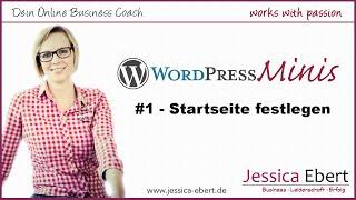 Wp Minis #1 - Wordpress Startseite erstellen / festlegen