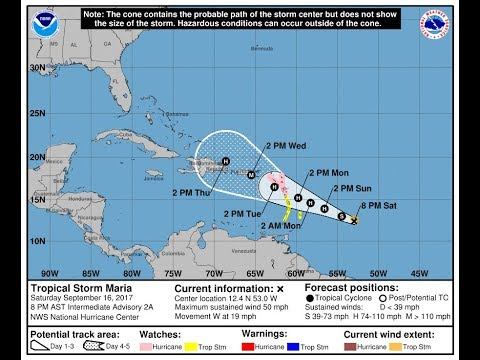 HURRICANE JOSE TO PASS OFFSHORE, TROPICAL STORM MARIA COULD BECOME ANOTHER MAJOR HURRICANE