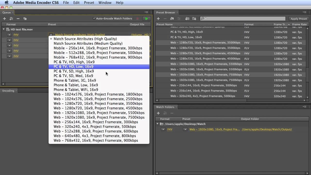 Tutorial: Adobe Media Encoder CS6 - YouTube