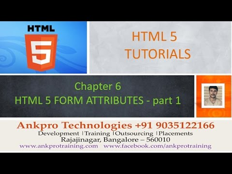 HTML 5 - Chapter 6 - HTML 5 form attributes (autocomplete, autofocus, list, max, min, multiple)