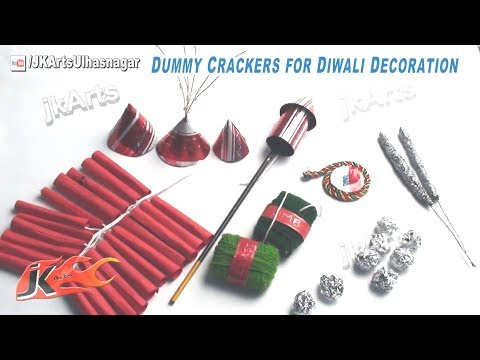 DIY How to make Dummy Crackers for Diwali Decoration | School Project | JK Arts 417