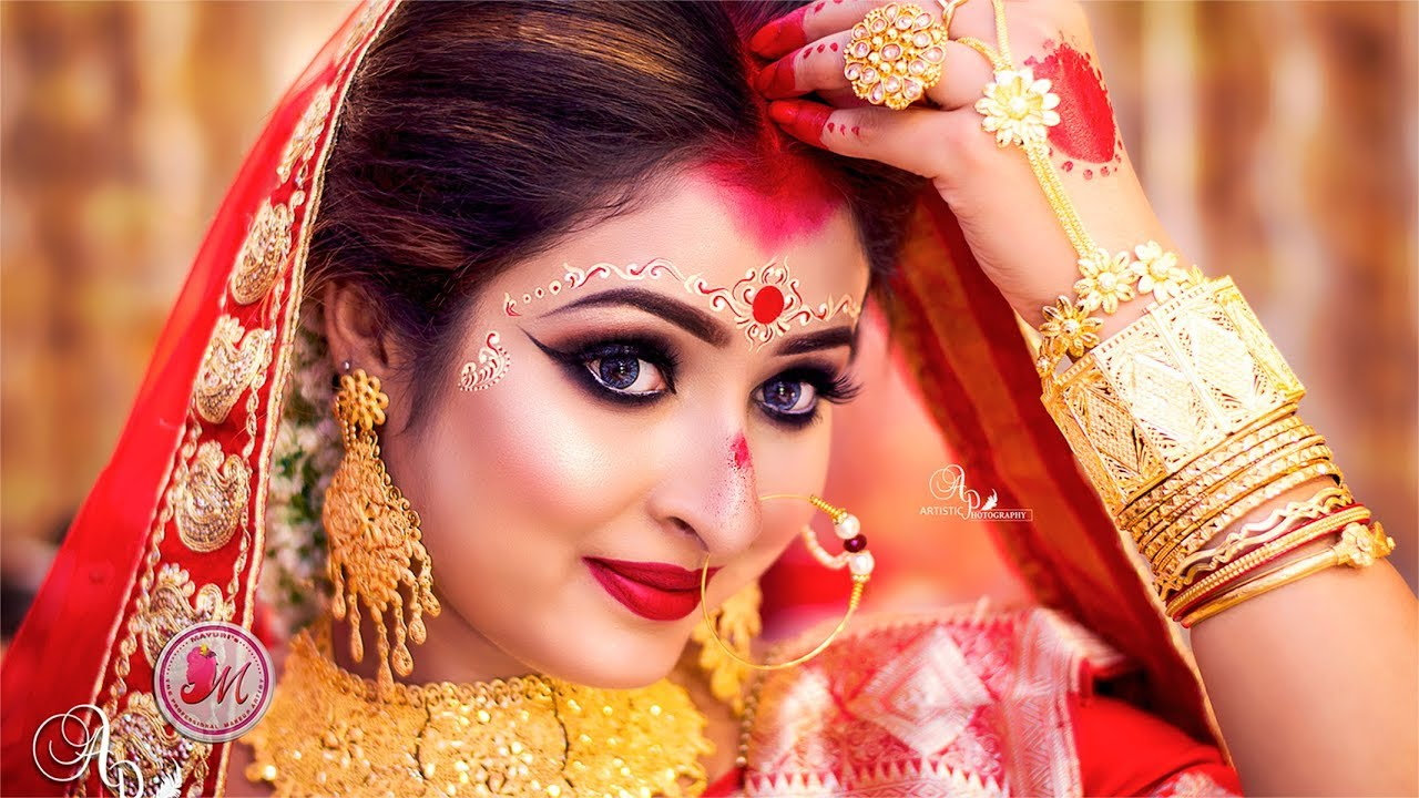 best airbrush bengali bridal makeover tutorial || by mayuri sinha sarkar ||