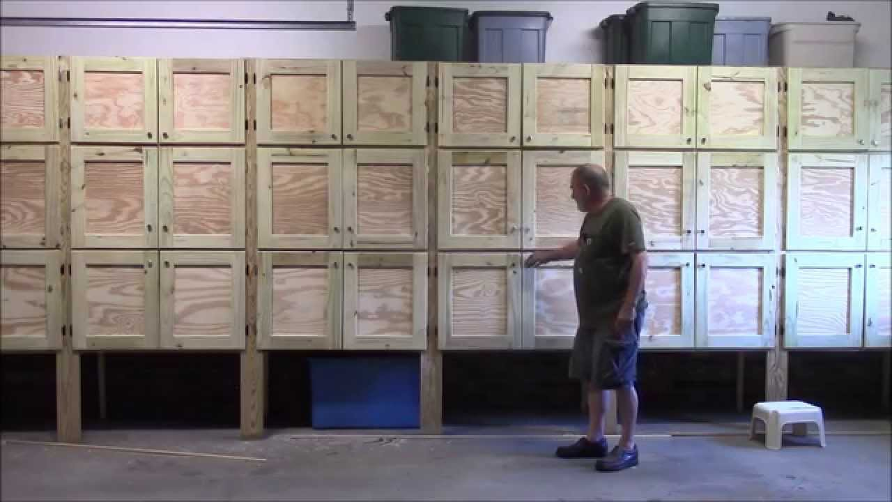 19 Building garage cabinets part 1 of 2 - YouTube