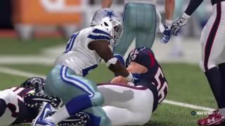 Madden NFL 17 Cowboys vs Texans | All Madden Test