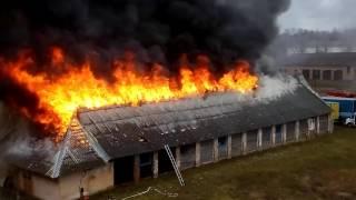 Пожар на складе .Марьина горка.