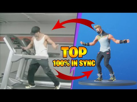 TOP 30 BEST FORTNITE DANCES IN REAL LIFE 100 IN SYNC | Season 1-10