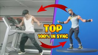 TOP 30 BEST FORTNITE DANCES IN REAL LIFE 100 IN SYNC | Season 1-10